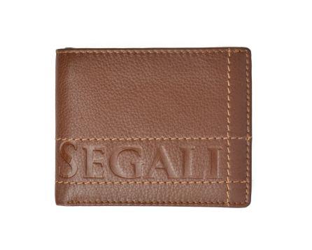 Pánská kožená peněženka SEGALI 19052 tan