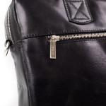 Pánská kožená taška SEGALI 7015 černá s popruhem