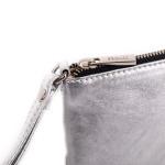 Kožená kabelka etue SEGALI A2 strieborná