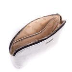 Kožená kozmetická taštička SEGALI A4 strieborná